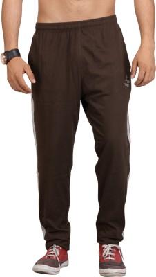 Vego Solid Men's Dark Green Track Pants
