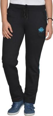 Fashion Club Solid Women's Black Track Pants