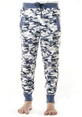 Shootr Printed Men,s Grey Track Pants