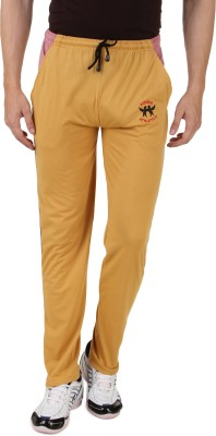 HAP Sports Solid Men's Yellow Track Pants