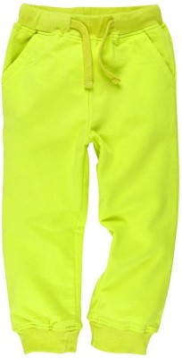 Oye Solid Girl's Yellow Track Pants