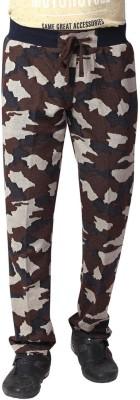 YOO Printed Men's Brown Track Pants