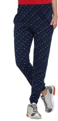 Vimal Printed Women's Blue Track Pants at flipkart