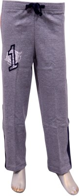 Puppet Nx Printed Boy,s Grey Track Pants