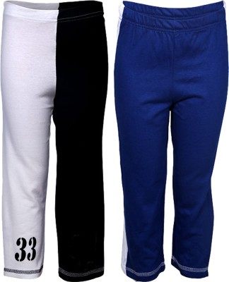 Gkidz Printed Boy,s White, Blue Track Pants