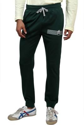 Magnoguy Mascot Print Solid Men's Green Track Pants