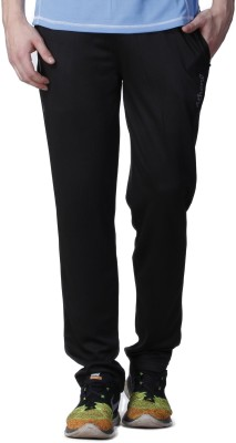 Atheno Solid Men's Black Track Pants