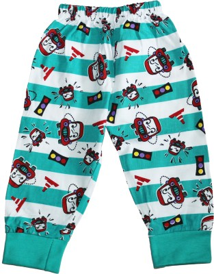 Georgi Striped Boy's Green Track Pants