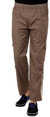 Grand Bear Regular Fit Solid Men's Brown Track Pants