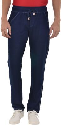 YOO Solid Men's Dark Blue Track Pants