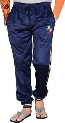 Blue Horse Striped Men's Blue, Yellow Track Pants