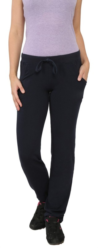 My Secret Comfortable Solid Women's Dark Blue Track Pants