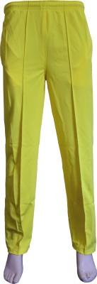 VSP Solid Men's Yellow Track Pants