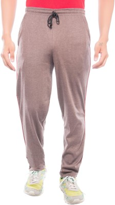 Ckl Self Design Men's Brown Track Pants