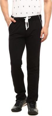 Gritstones Solid Men's Black Track Pants