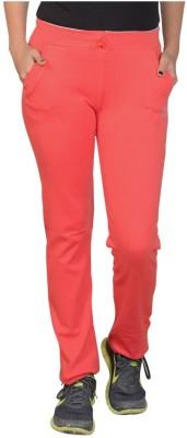 Sweekash Solid Women's Orange Track Pants at flipkart
