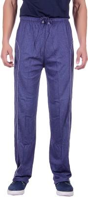 Sprig Striped, Solid Men's Blue Track Pants