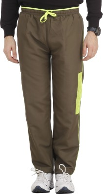 SPAWN Solid Men,s Green Track Pants