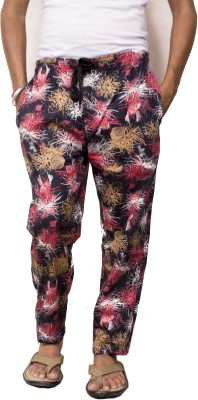 Style In Fashion Printed Men's Red Track Pants