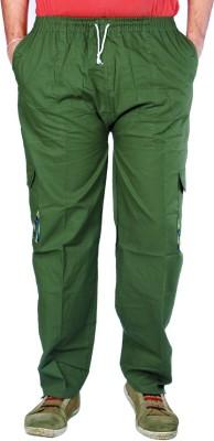 AADUKI Solid Men's Green Track Pants
