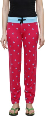 Crux&Hunter Printed Women's Red Track Pants