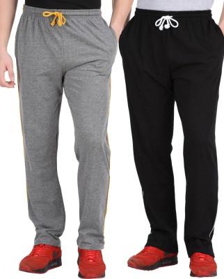 Checker S Bay Jack12 Solid Men's Black, Grey Track Pants