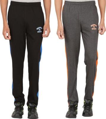 Greenwich Solid Men's Black Track Pants