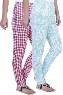 Eshelle Checkered, Paisley Women's Pink, White, Green Track Pants
