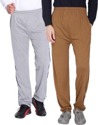 Fizzaro Solid Men's Grey, Brown Track Pants