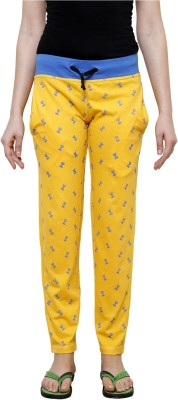 Crux&Hunter Printed Women's Yellow Track Pants