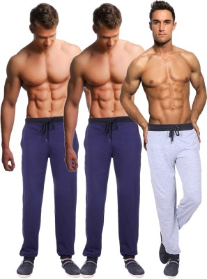 Billu Oye Solid Men's Grey, Dark Blue, Dark Blue Track Pants