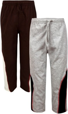 Jazzup Solid Boy's Grey, Brown Track Pants