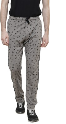 Riverstone Printed Men's Grey Track Pants