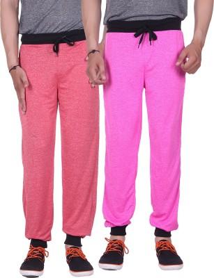 Gag Wear Solid Men's Red, Pink Track Pants