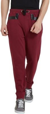 Elaborado Solid Men's Red Track Pants
