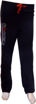 Puppet Nx Printed Boy's Black Track Pants