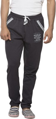 Maniac Solid Men's Grey Track Pants