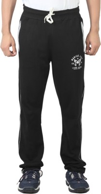 Maniac Solid Men's Black Track Pants