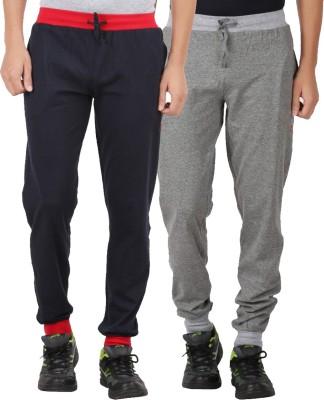 CHECKERSBAY Solid Men's Dark Blue, Grey Track Pants