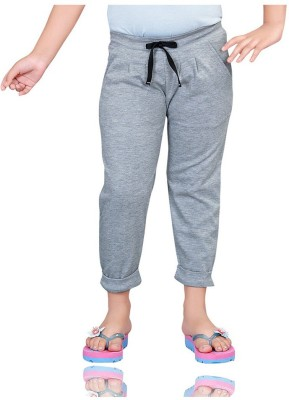 Mint 1351G24 Solid Girl's Grey Track Pants