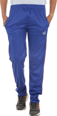 Custom Creation Solid Men's Blue Track Pants