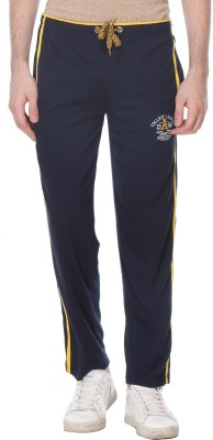 Glasgow Self Design Men's Dark Blue Track Pants