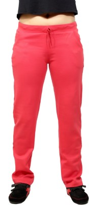 By The Way Solid Women's Pink Track Pants