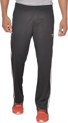 SCHOLAR Solid Men's Black Track Pants