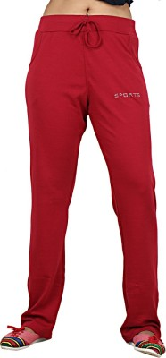 Sequeira Solid Women's Maroon Track Pants
