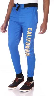 Shootr Solid Men,s Blue Track Pants