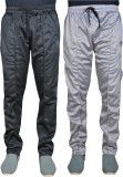 Green House Solid Men's Black, Silver Tr...