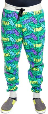 Shootr Printed Men,s Green Track Pants
