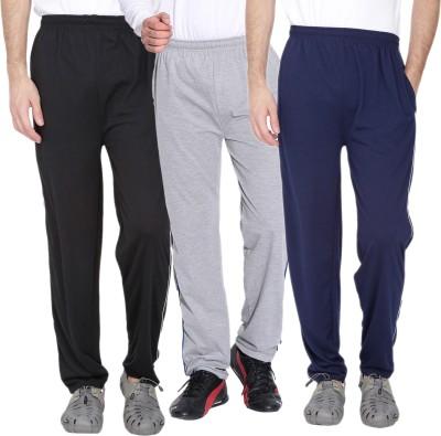 Fizzaro Solid Men's Black, Grey, Blue Track Pants
