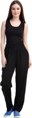 Gag Wear Self Design Women's Black Track Pants